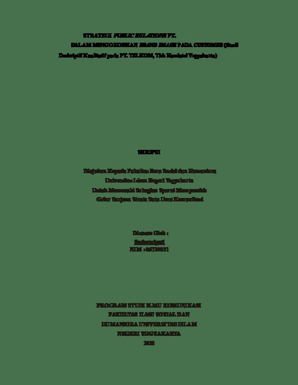 15 Skripsi Kuantitatif Jurusan Komunikasi