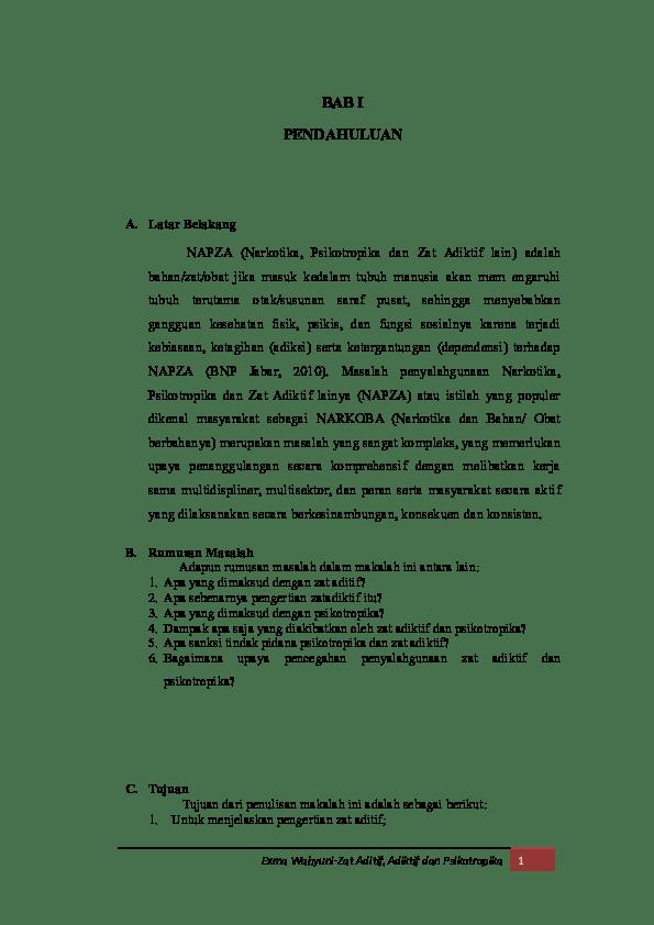 18 Makalah Biologi Tentang Zat Adiktif Dan Psikotropika