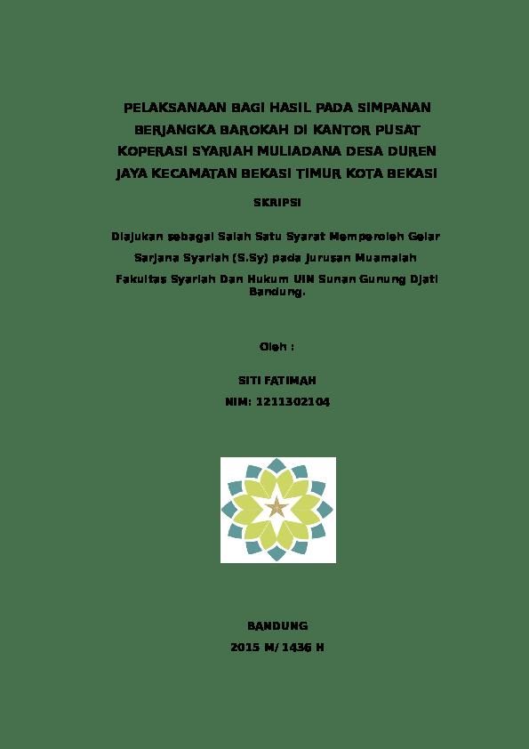 15 Contoh Cover Skripsi Uin Bandung