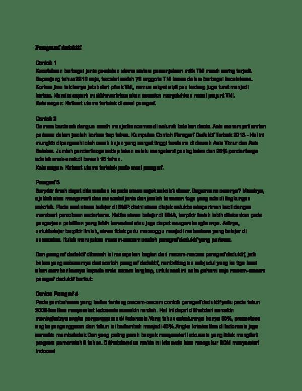 20 Contoh Paragraf Deduktif Bertema Lingkungan