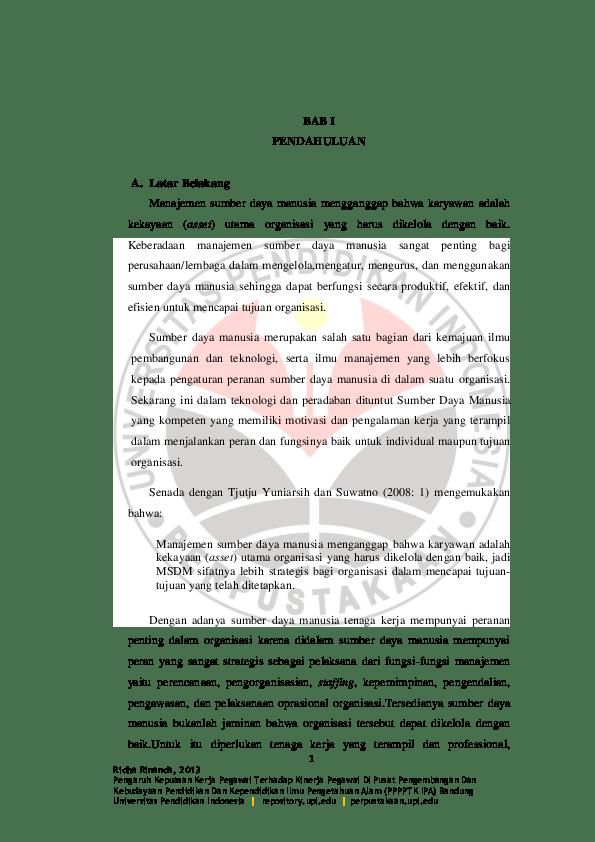 14 Skripsi Bab 1 Manajemen Sdm