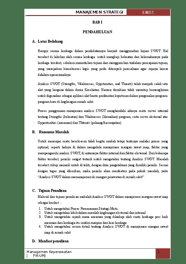 14 Makalah Analisis Swot Doc