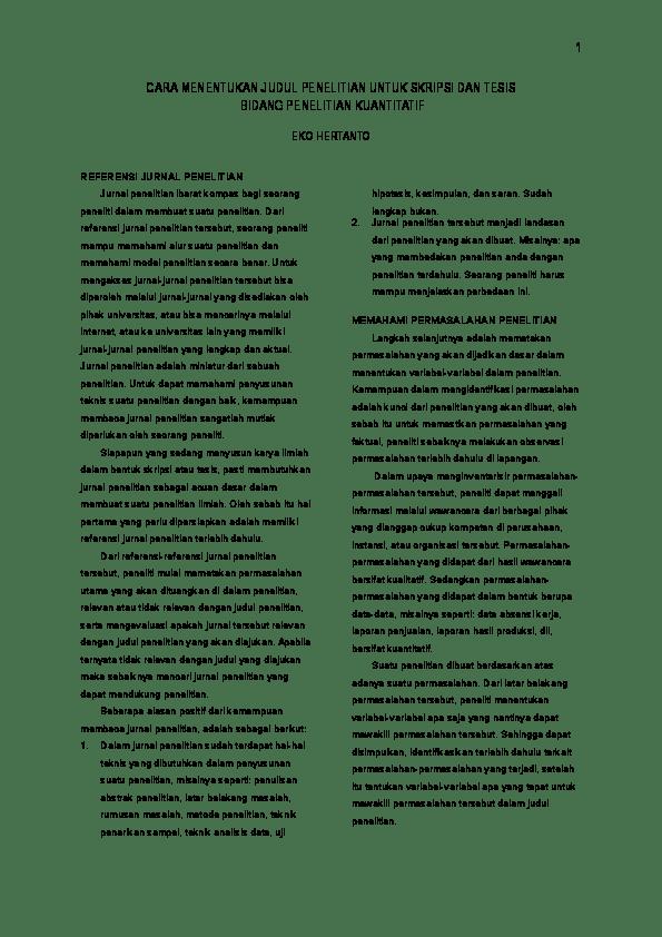 16 Skripsi Jurnal Kuantitatif