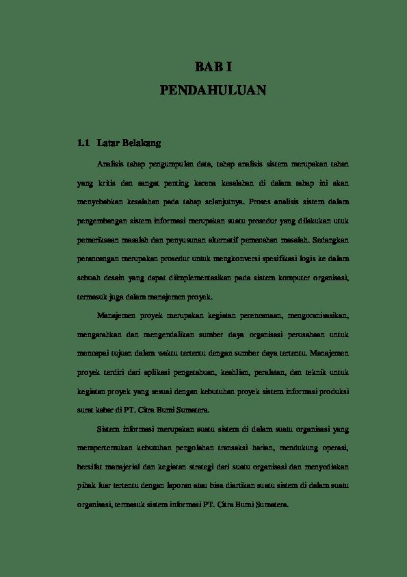 Contoh Latar Belakang Proposal Projek : contoh, latar, belakang, proposal, projek, Contoh, Latar, Belakang, Projek