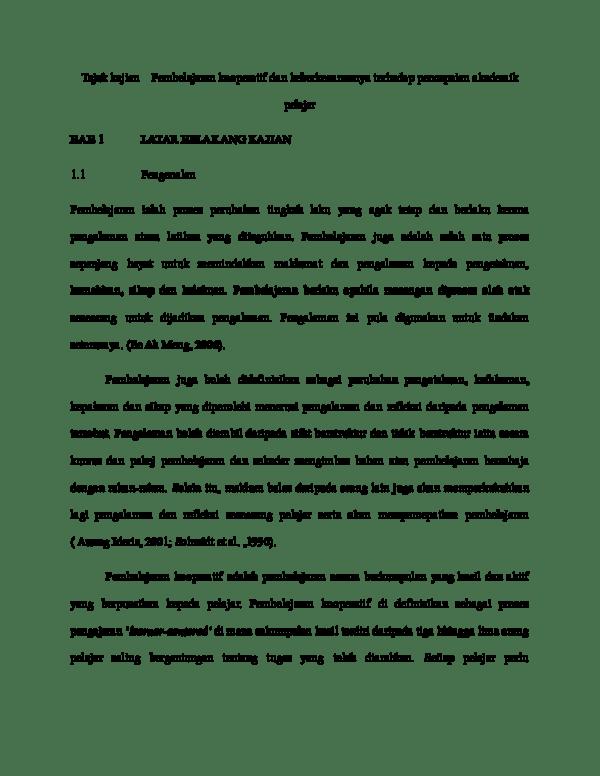 Proposal Contoh Latar Belakang Kajian