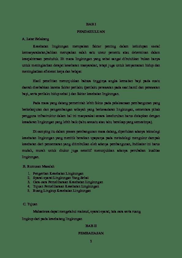 14 Makalah Etika Lingkungan Dan Pengembangan Permukiman