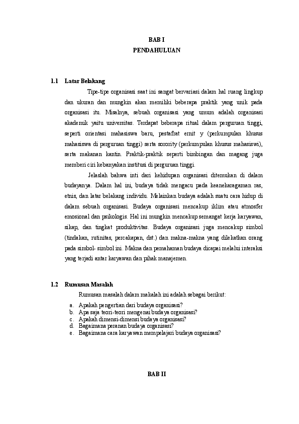 16 Makalah Budaya Organisasi Perilaku Organisasi