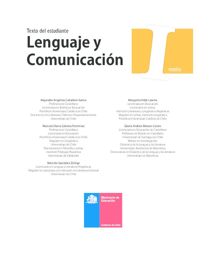 Pdf Lenguaje Y Comunicacion Texto Del Estudiante I Medio