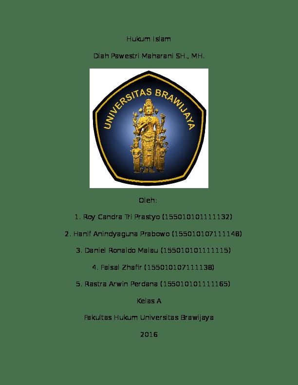 15 Skripsi Fakultas Hukum Universitas Brawijaya