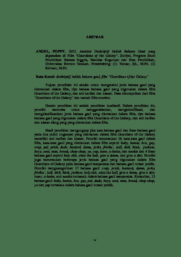 14 Contoh Abstract Skripsi Dalam Bahasa Inggris