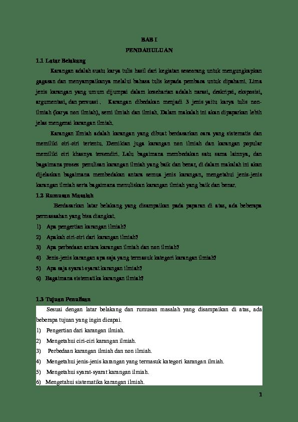 Contoh Karya Ilmiah Bentuk Formal : contoh, karya, ilmiah, bentuk, formal, Contoh, Karya, Tulis, Ilmiah