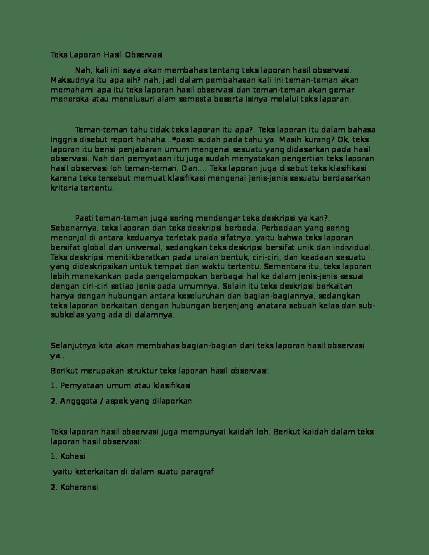 17 Contoh Makalah Observasi Bahasa Inggris