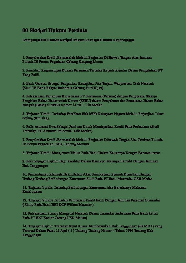 Download Skripsi Hukum Perdata Perkawinan