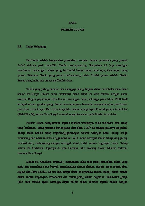 17 Makalah Filsafat Islam Ibnu Rusyd