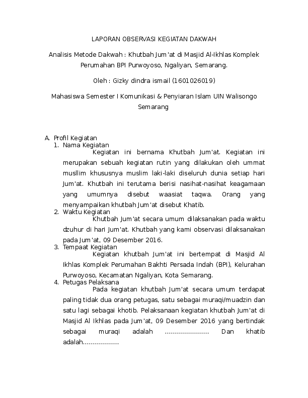 15 Contoh Makalah Observasi Pdf