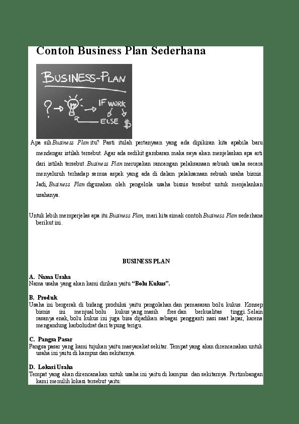 Makalah Bisnis Plan Perikanan