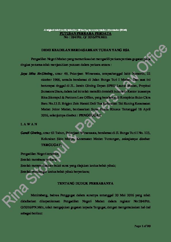 Contoh Surat Eksepsi Perdata Wanprestasi Download Kumpulan Gambar