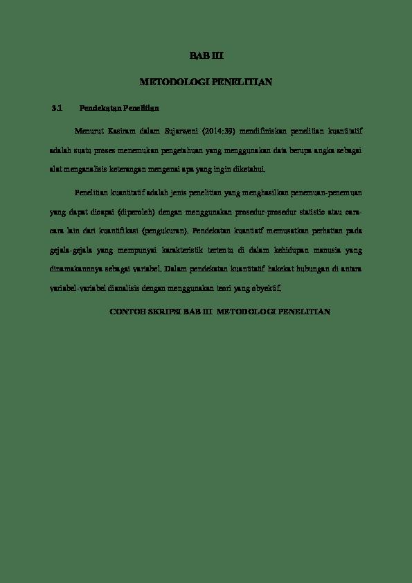 20 Contoh Skripsi Kuantitatif Lengkap