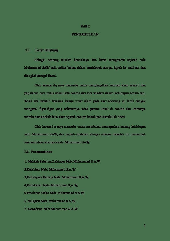 15 Contoh Makalah Sejarah Nabi