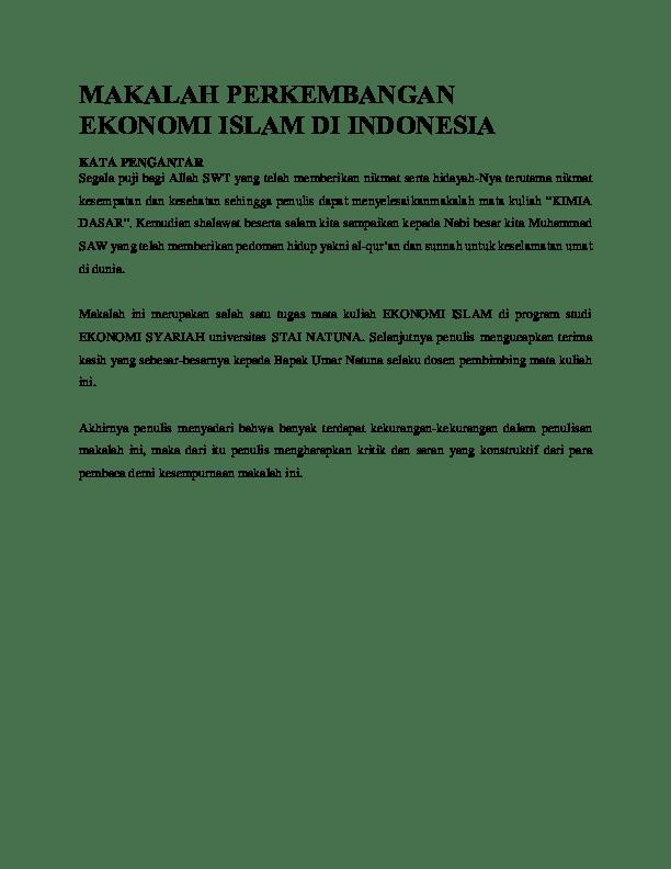 15 Contoh Makalah Ekonomi Islam Pdf