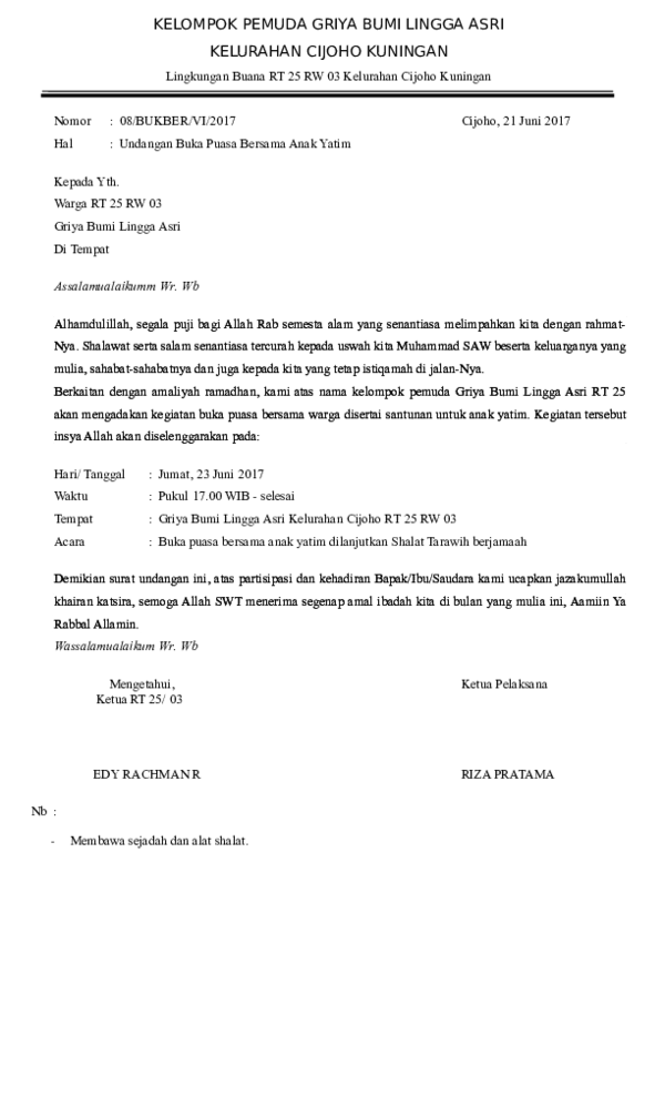 Doc Kelompok Pemuda Griya Bumi Lingga Asri Jjjj Lllll Academia Edu