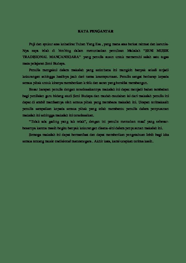 16 Contoh Kata Pengantar Makalah Bahasa Inggris Download