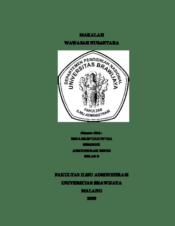 Tugas Makalah Wawasan Nusantara