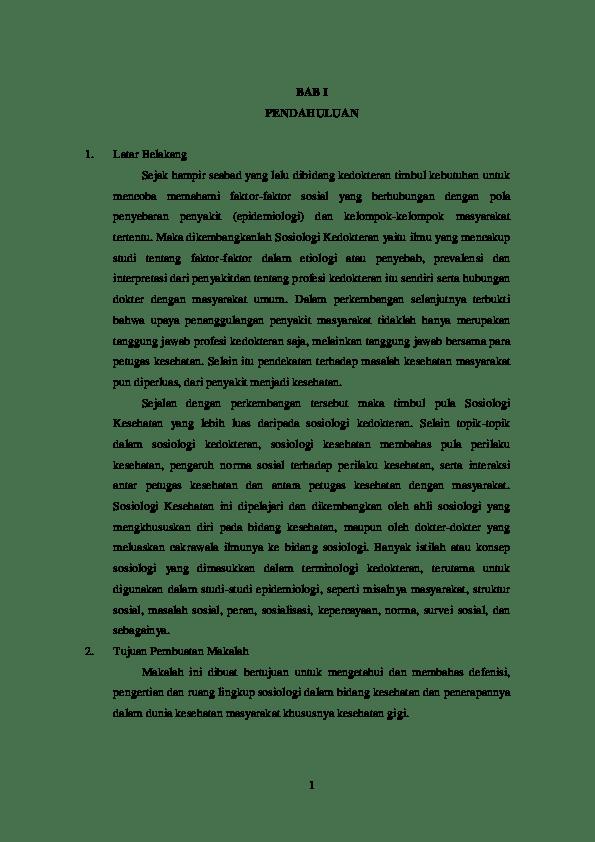 20 Contoh Latar Belakang Pembuatan Makalah Sosiologi