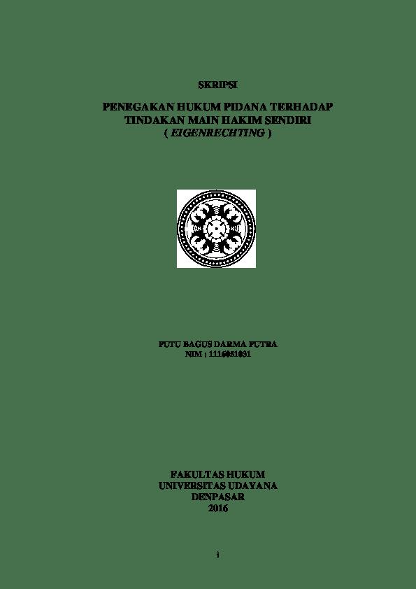 18 Judul Skripsi Hukum Pidana Tentang Lembaga Pemasyarakatan