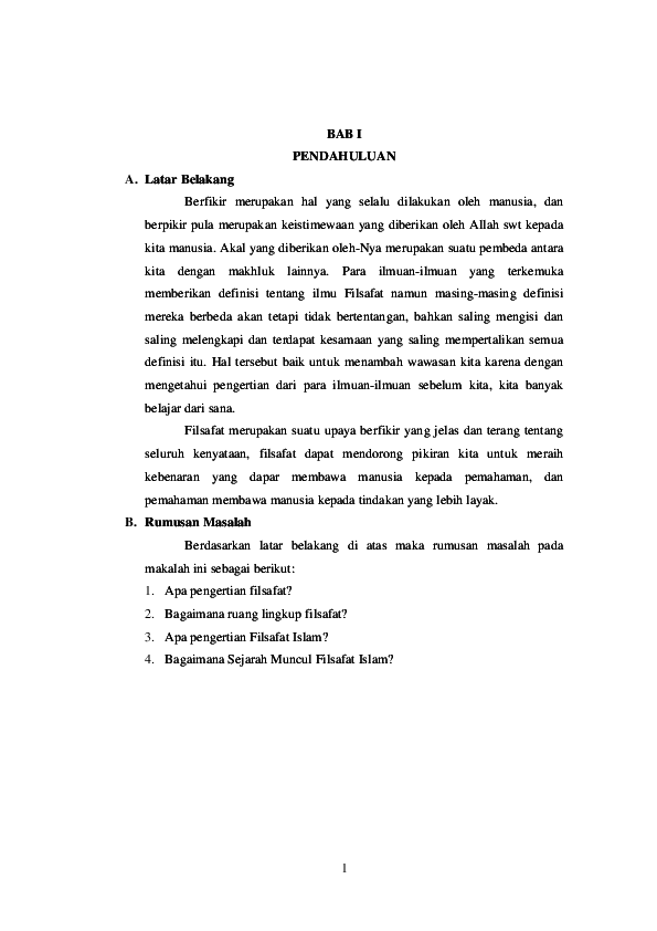 20 Contoh Makalah Filsafat Islam