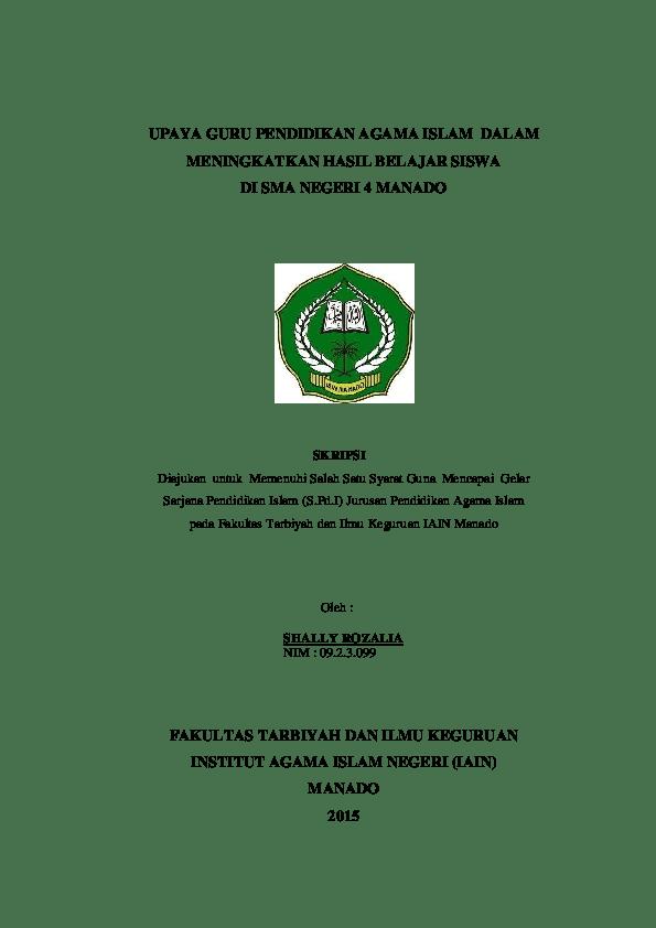 18 Judul Skripsi Penelitian Kualitatif Pendidikan Agama Islam