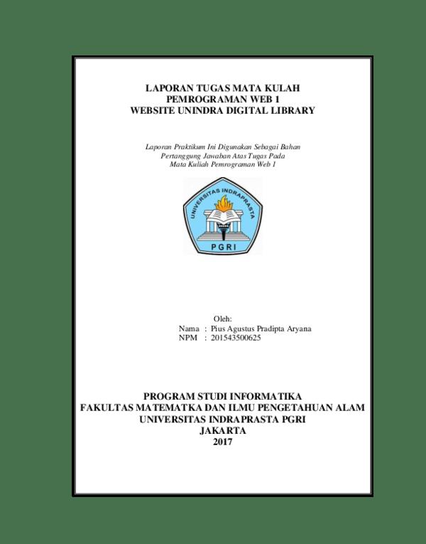 19 Contoh Skripsi Teknik Informatika Unindra