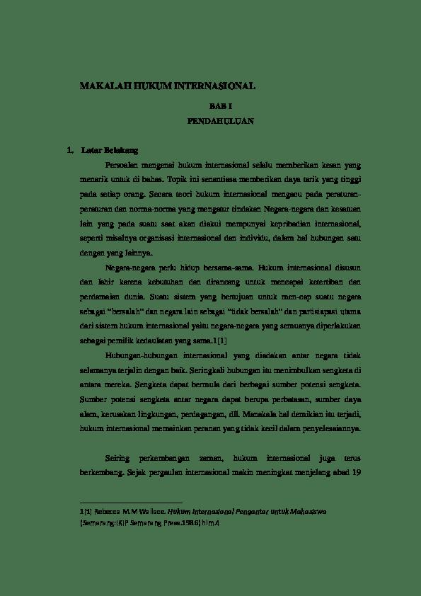 17 Contoh Makalah Hukum Bisnis Internasional
