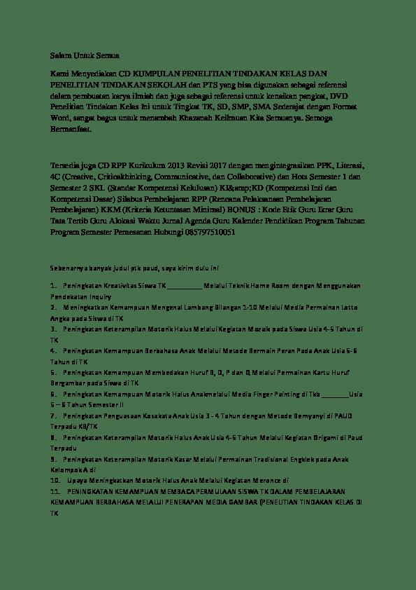 18 Contoh Judul Skripsi Yang Ptk