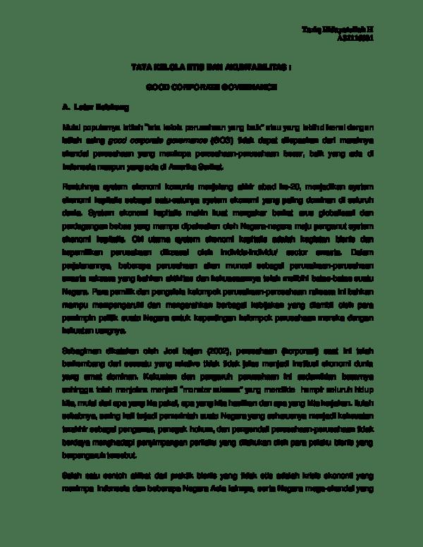 14 Makalah Good Corporate Governance