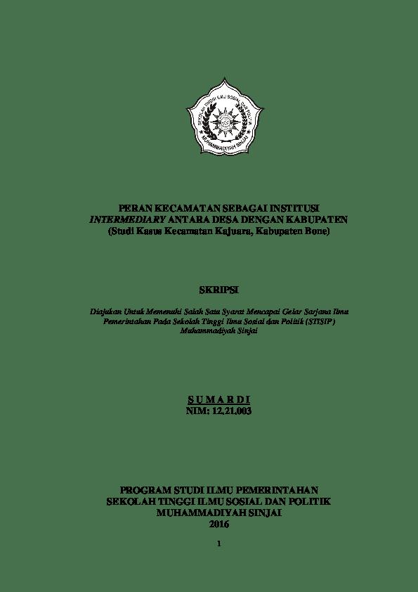 17 Contoh Skripsi Sospol Ilmu Pemerintahan