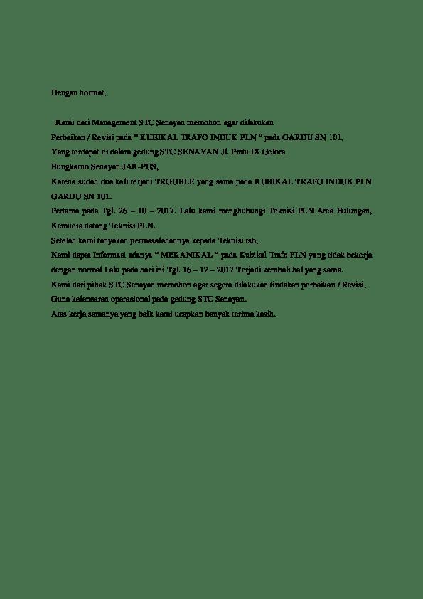 16 Contoh Surat Komplain Internet