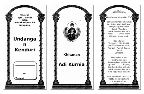 Doc Undangan Khitan Doc Imam Mukhayatudin Academia Edu