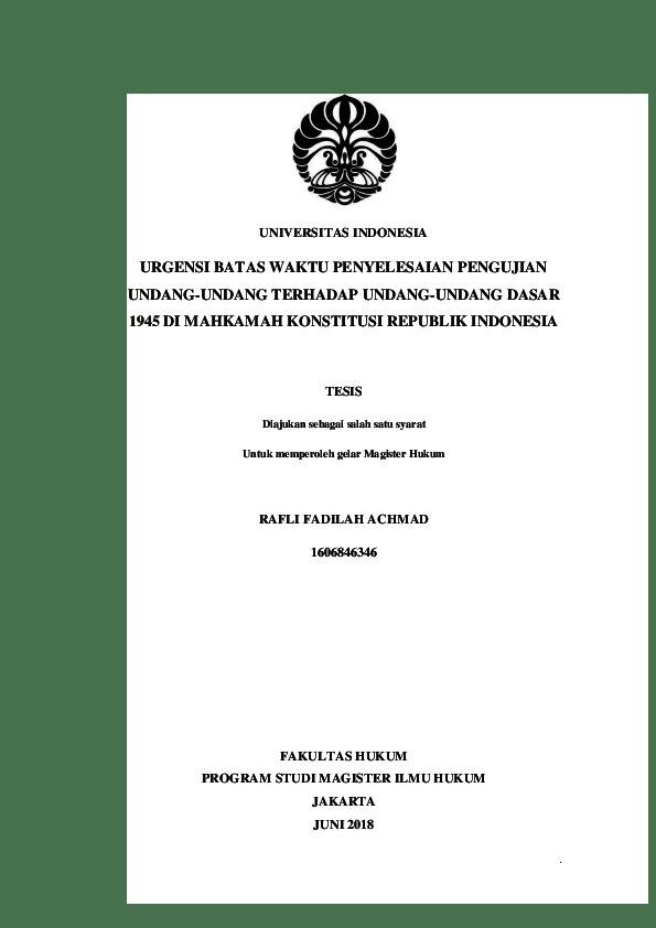 19 Judul Skripsi Hukum Perdata Universitas Indonesia