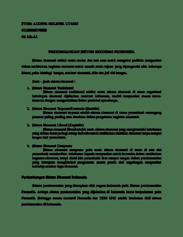 Jelaskan Perbedaan Sistem Ekonomi Komando Dengan Sistem Ekonomi Pasar : jelaskan, perbedaan, sistem, ekonomi, komando, dengan, pasar, Indonesia, Menganut, Sistem, Ekonomi, Campuran