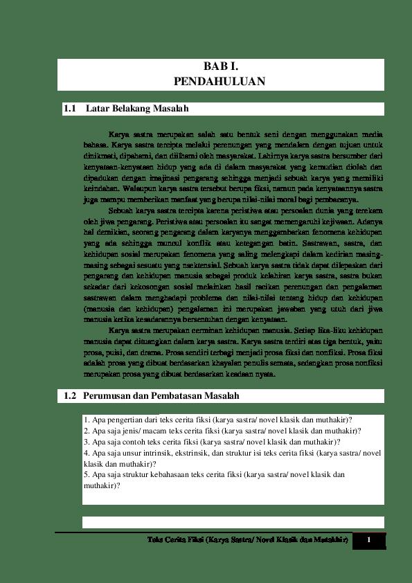 15 Contoh Pendahuluan Makalah Cerpen