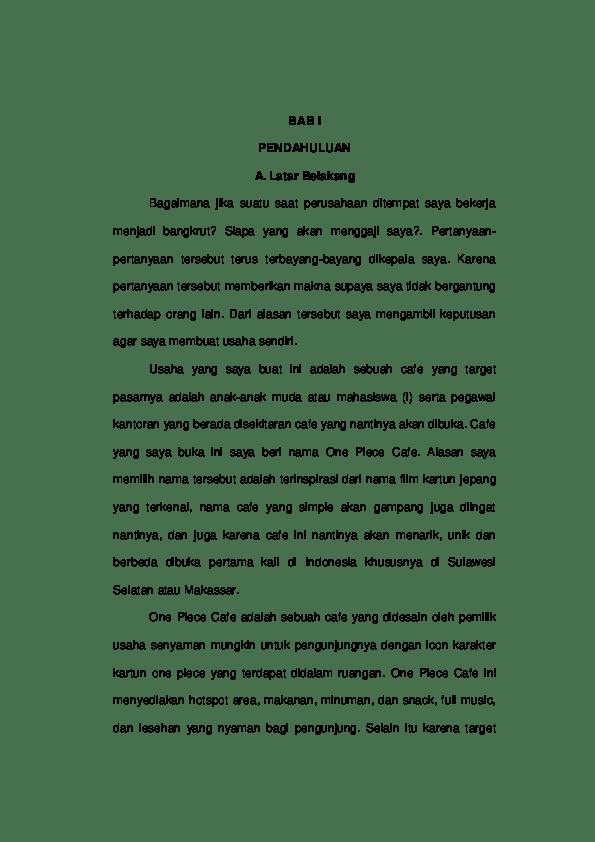 14 Makalah Bisnis Lesehan