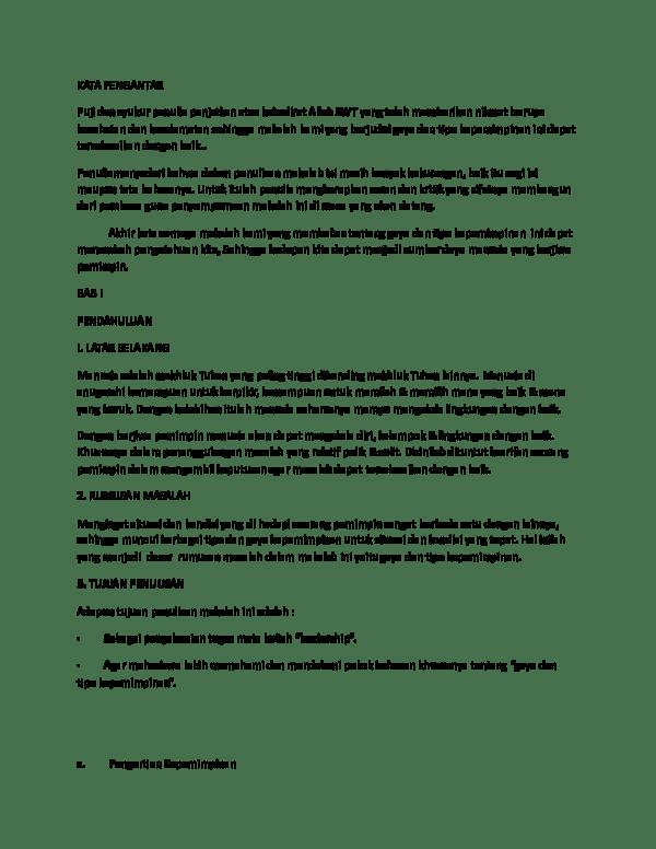 16 Makalah Gaya Kepemimpinan Otoriter
