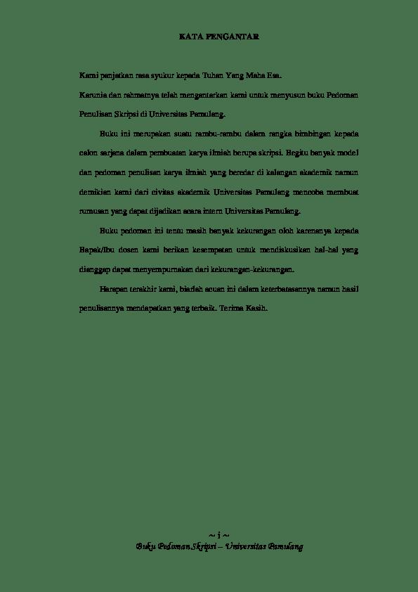 17 Panduan Skripsi Unpam