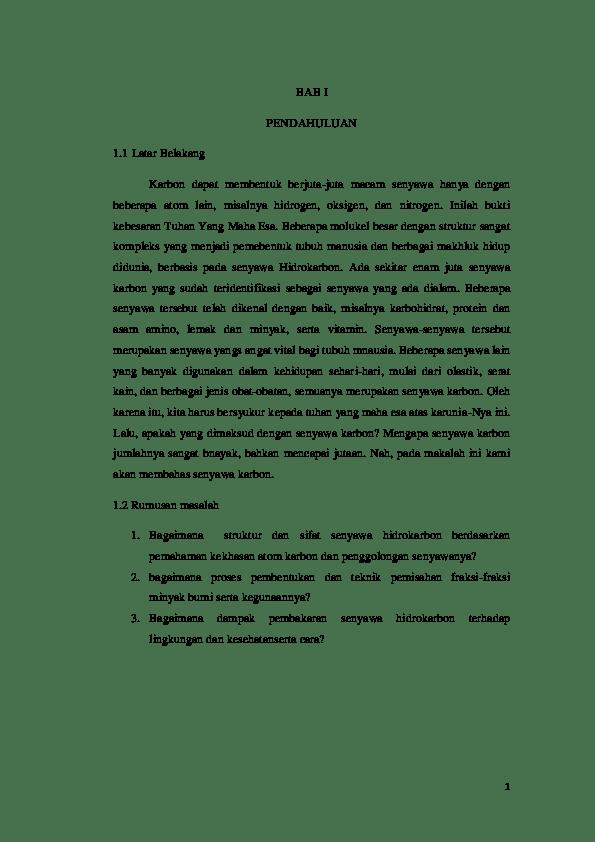 14 Contoh Makalah Kimia Tentang Hidrokarbon Dan Minyak Bumi