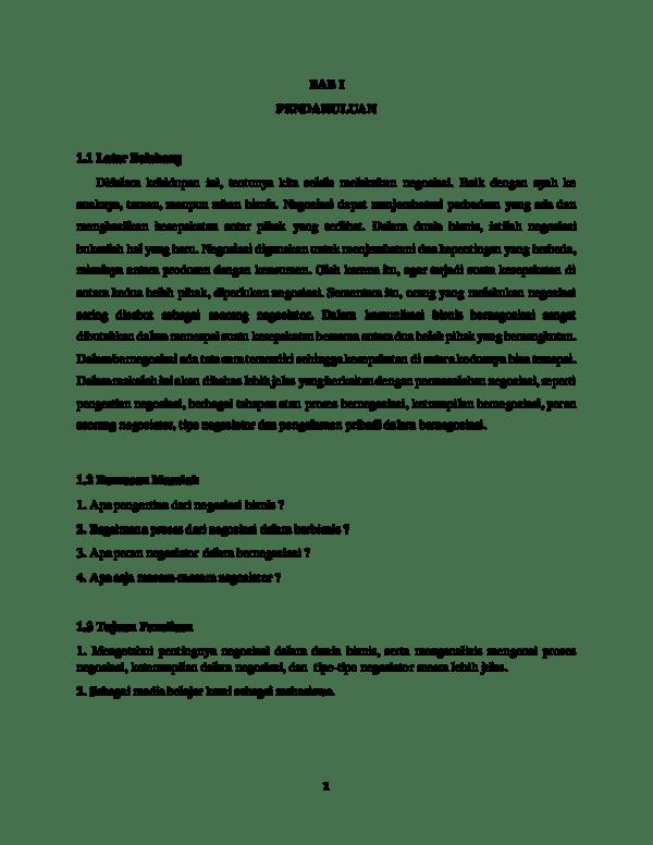 20 Contoh Makalah Negosiasi Bisnis