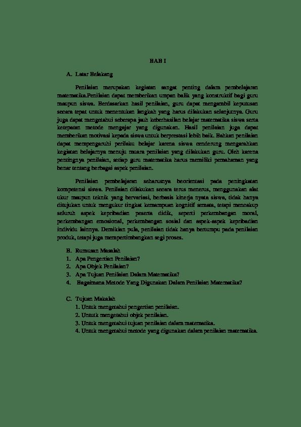 15 Contoh Makalah Matematika Smp Doc