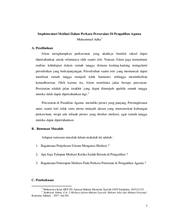 Contoh Surat Mediasi Cerai Download Kumpulan Gambar