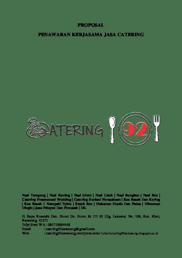 16 Contoh Proposal Penawaran Catering Ke Perusahaan
