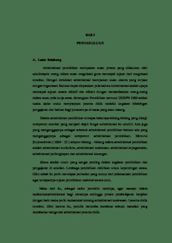 20 Contoh Pendahuluan Makalah Administrasi Kepegawaian